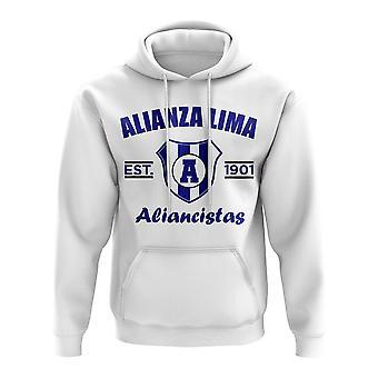 Alianza perustettu jalkapallo huppari (valkoinen)