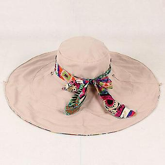 Fashion Design Flower Foldable Brimmed Summer Hats Uv Protection