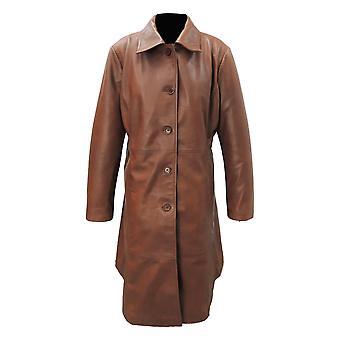 Womens Elegant Leather Coat