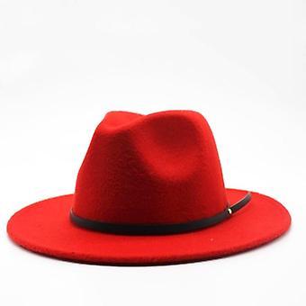 Ull Fedora Hat, Hawkins kände kvinnor Jazz kyrkan Gudfadern Sombrero Mössor