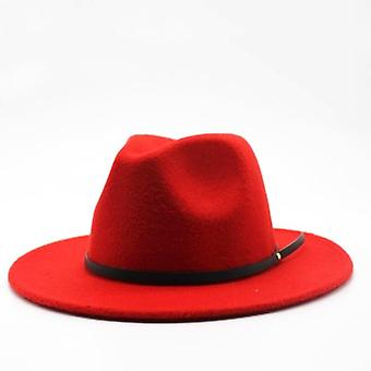 Wolle Fedora Hut, Hawkins Filz Frauen Männer Jazz Kirche Pate Sombrero Caps