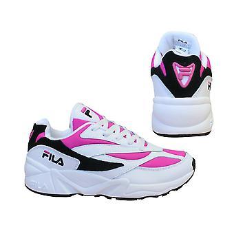 Fila V94M انخفاض الدانتيل الوردي الأبيض حتى عارضة الرياضة المدربين النساء 1010291 02L B15D