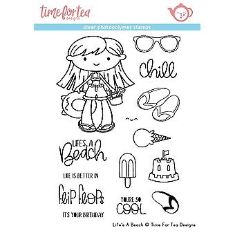 Time For Tea Life's A Beach Clear Stamps
