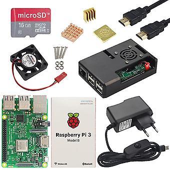 Pi 3 نموذج B، بلس المجلس + عبس القضية + إمدادات الطاقة البسيطة بي بي 3b/3b