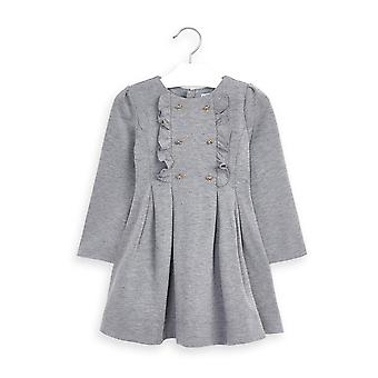 Mayoral girls grey ruffle frill dress 4967/80