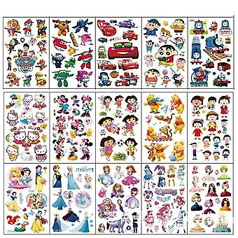 20 Sheet Cartoon Waterproof Temporary Tattoo Sticker