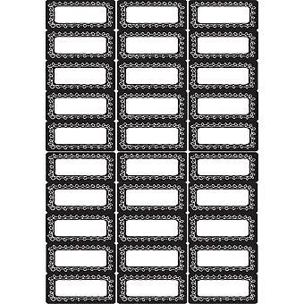 Die-Cut Magnetic Foam Chalk Loop Labels/Nameplates, 30 Pieces
