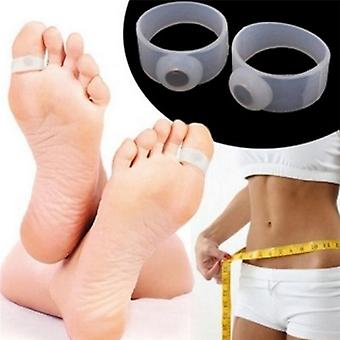Slimming Lose Weight Care Tool, Silicone Magnetic Massage Foot Toe Rings