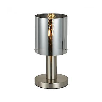 Lámpara de Escritorio Moderno Sardo Níquel Satinado