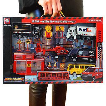 Children's city express simulation toy set