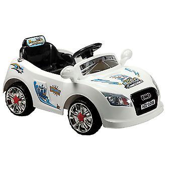 Elektrisk barne bil A018 med fjernkontroll 6V, enkelt seter med lys og musikk