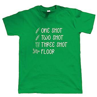 1 Shot 2 Shot 3 Shot Floor, Mens T-Shirt - Funny Pub Lockdown Vaccine Gift Him