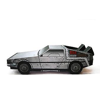 Back To The Future Dmc-12 Car- Folding Cutting 3d Paper Model