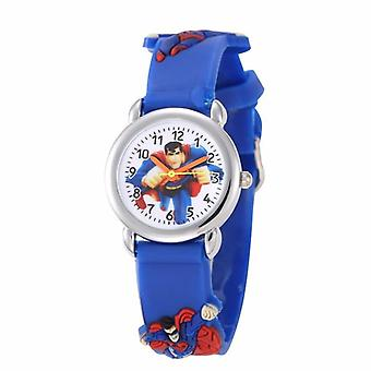 Kids Cartoon Watch For,, 3d Pattern Silicone Strap, Acrylic Dial,'s Quartz
