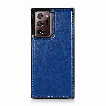 Leather case with card slot for Samsung Galaxy A71 5G - blue