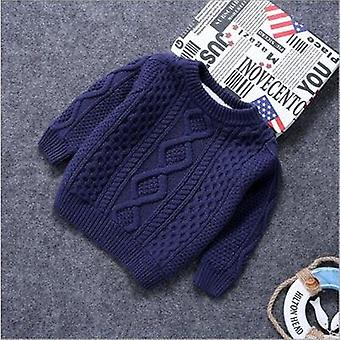 Baby Cotton Warm Pullovers Plush Inside Sweaters Knitted Loose Jacket