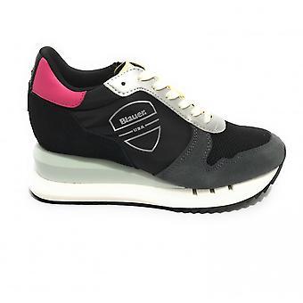 Shoes Blauer Sneaker Running Casey Suede/ Nylon Black/ Multicolor Ds21bu02