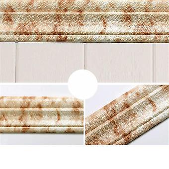 3d Marble Self-adhesive, Pvc, Waterproof, Baseboard Wallpaper For Walls, Roll
