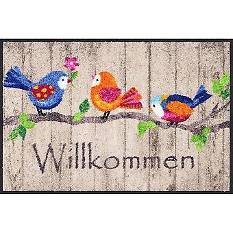 Salonloewe Fåglar Trä Dörrmatta 50 x 75 cm SLD1881-050x075