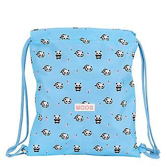 Backpack with Strings Moos Panda Light Blue