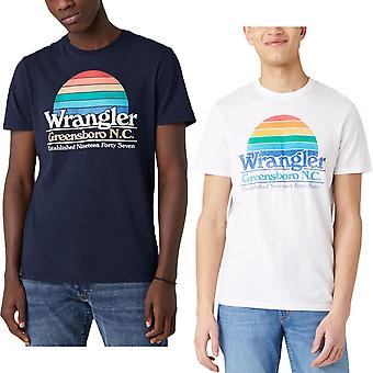 Wrangler Mens Graphic Short Sleeve Crew Neck Cotton T-Shirt Top Tee