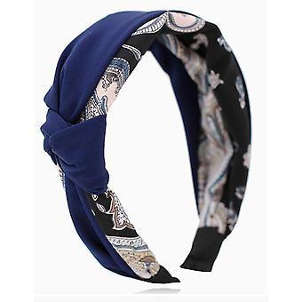 Headband For Women Soft Suede Knotted Hairband Bowknot Hair Hoop Wide Edge