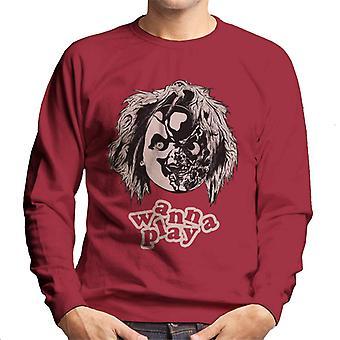 Chucky Half Face wil Men's Sweatshirt spelen