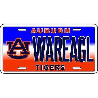 "Auburn Tigers NCAA ""War Eagl"" License Plate"