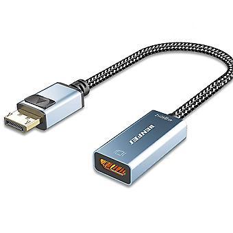 FengChun Aktiv DisplayPort auf HDMI Adapter 4K@60Hz, DP auf HDMI Adapter[Nylon geflochtenAluminium