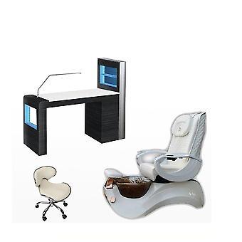 Używane krzesło Pedicure z de masaż przenośnym stołem do masażu