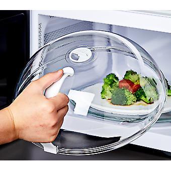 כיסוי נגד Sputtering מזון במיקרוגל עם ידית עמיד בחום מכסה עבור מזון מיקרוגל