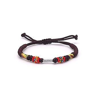 BENAVA Tibetan bracelet Tibetan bracelet Buddhist jewelry and metal base, color: brown, cod. 100000-Braun