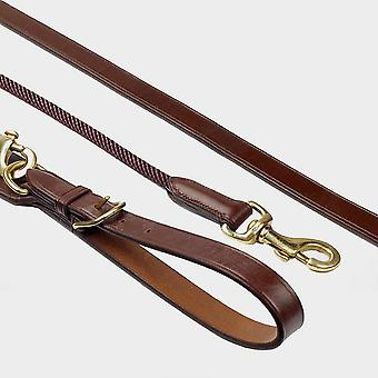 New Whitaker Leather Rope Draw Reins Brown