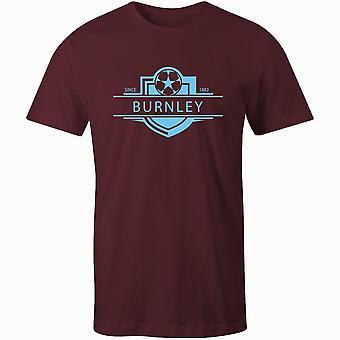 Burnley 1882 istituito badge kids football t-shirt