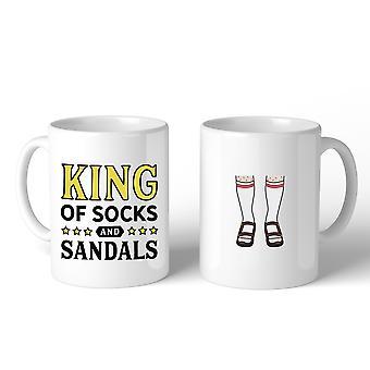konge av sokker og sandaler design krus