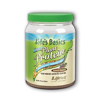 Life Time Nutritional Specialties Life's Basics Organic Plant Protein, Coarse Powder Chocolate, 19.6oz