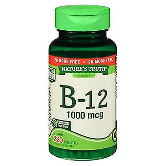 Nature's Truth Nature'S Truth B-12 Tablets, 1000 mcg, 220 Tabs