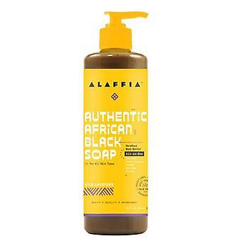 Alaffia All in 1 African Black Soap Wild Lavender, 16 Oz
