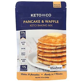 Keto & Co Mix Pancake Waffle, Case of 6 X 9.3 Oz