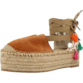 Espadrille sandalen geel kleur Camel