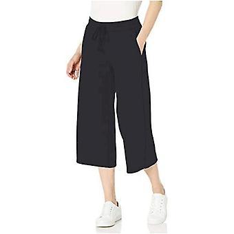Essentials Women's French Terry Fleece Wide-Leg Crop Sweatpant