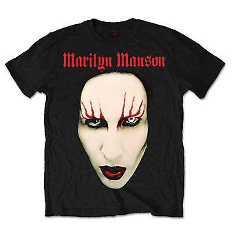 Marilyn Manson - Red Lips Unisex X-Large T-Shirt - Black