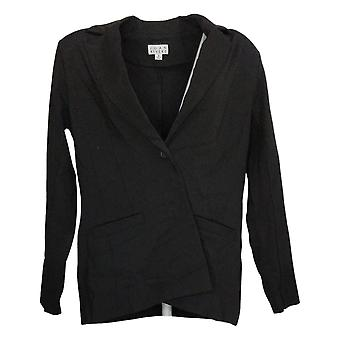 Joan Rivers Classics Collection Women's Suit Jacket/Blazer Ponte Black A343480