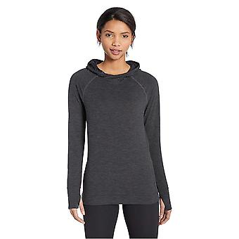 Essentials Damen Brushed Tech Stretch Popover Hoodie, Black Space Dye, XX-Large