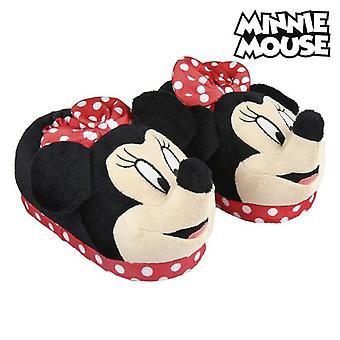 Pantofole casa 3d Minnie Mouse Rosso