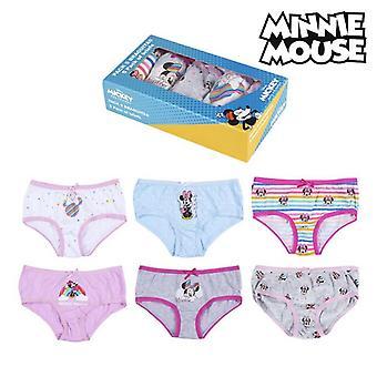 Paczka dziewczyn Knickers Minnie Mouse Multicolour (5 uds)