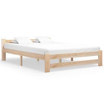 vidaXL السرير الإطار الخشب الصلب الصنوبر 180x200 سم