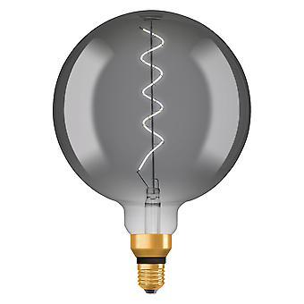 Osram LV269927 1906 LED 28W Vintage Spiral Filament Smoke Glass Large Globe ES Bulb