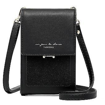 Vertikale Ein-Schulter-Wechseltasche große Kapazität Damen Handy tasche (Schwarz)