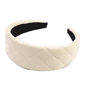 2PCS  New Fashion Wide Side Hairband Casual PU Artificial Leather Headband Simple Classic Turban